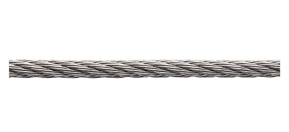 Трос М5 средней мягкости, нерж.сталь (А4), din 3055 (бухта 250м) (starfix)