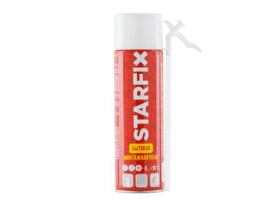 Пена монтажная бытовая всесезонная starfix straw foam (500мл)