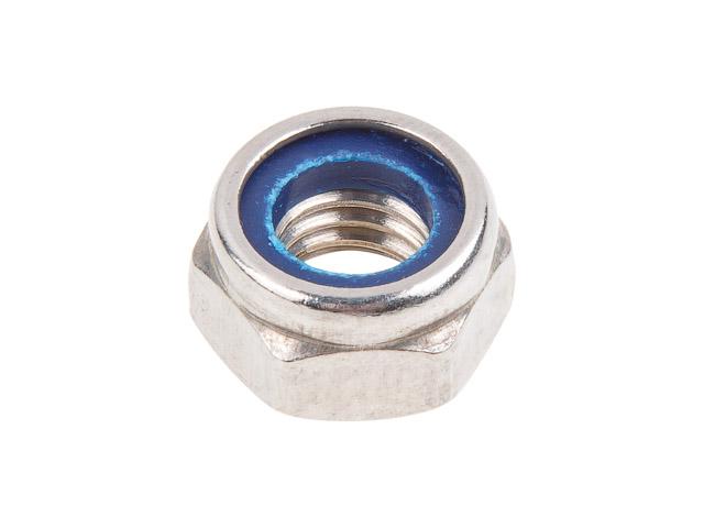 Гайка М5 со стопорным кольцом, нерж.сталь (А2), din 985 (500 шт в карт. уп.) (starfix)