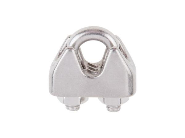 Зажим для стальных канатов М3, нерж.сталь (А4), din 741 (starfix)