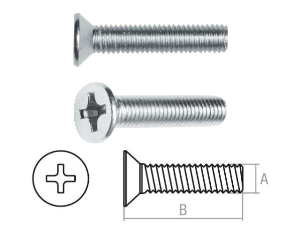 Винт М3х8 мм потай. головка, цинк, din 965 (100 шт в зип-локе) starfix