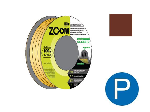 Уплотнитель «p» коричневый 100м  zoom classic
