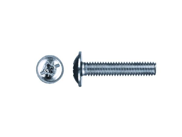 Винт М6х12 мм для мебельной фурнитуры, цинк din 967 (20 шт в зип-локе) starfix