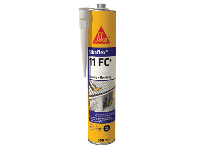 Клей-герметик полиуретановый sikaflex-11fc+ коричневый 300 мл