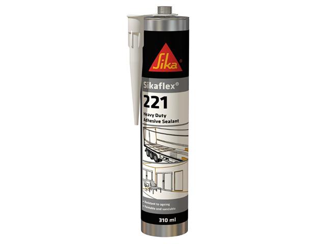 Клей-герметик полиуретановый sikaflex-221 белый 300 мл