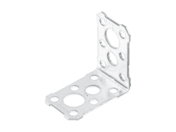 Уголок крепежный 50х50х36 белый цинк ЦВiК
