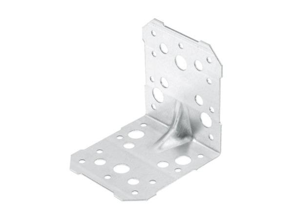 Уголок крепежный усиленный 100х100х95 белый цинк ЦВiК