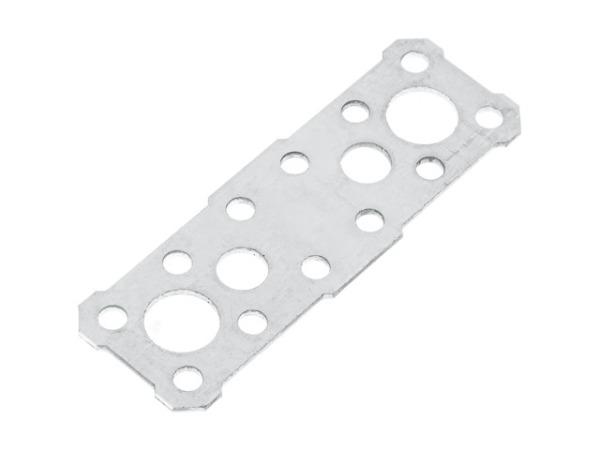 Пластина крепежная 100х35 белый цинк Цвiк (Фактический размер изделия 91*30мм, толщина 1,7мм) (ЦВiК)