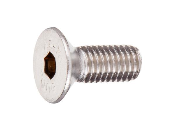 Винт 8х20 мм с потайной головкой и внутр. шест. нерж.сталь (А2), din 7991 (200 шт в карт. уп.) (starfix)