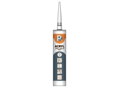 Герметик акриловый p plus acryl (бел.) 280мл