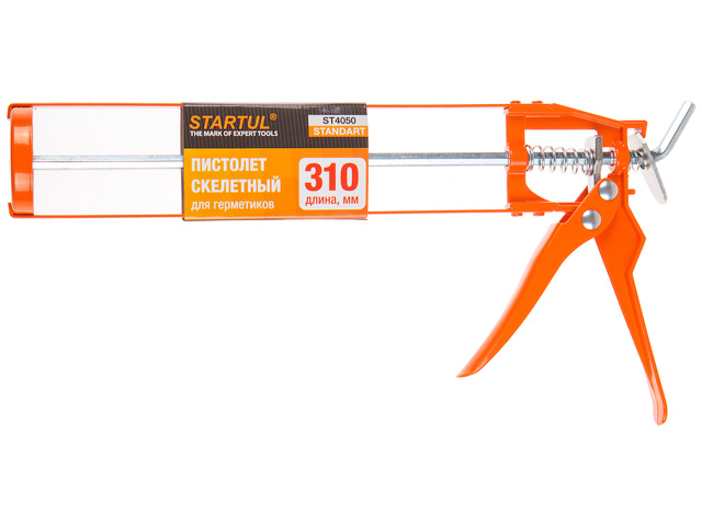 Пистолет д/герм. скелетный 310мл startul standart (st4050) (шестигранный шток)