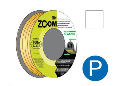 Уплотнитель «p» белый 100м  zoom classic