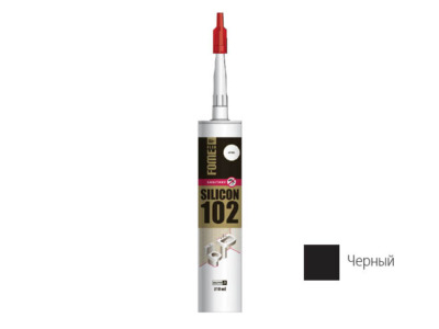 Герметик силиконовый fome flex «sanitary silicon 102» (черн.) 310мл