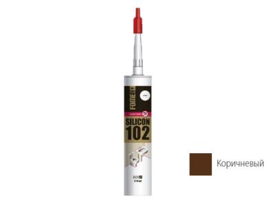 Герметик силиконовый fome flex «sanitary silicon 102» (корич.) 310мл