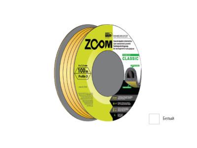 Уплотнитель «d» белый 100м  zoom classic