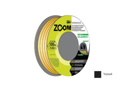 Уплотнитель «d» черный 100м  zoom classic