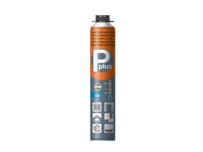 Пена монтажная профессиональная всесезонная p plus «pistol foam» (650г) (Выход около 38л)