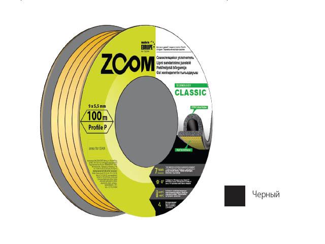 Уплотнитель «p» черный 100м  zoom classic