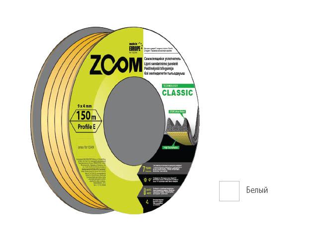 Уплотнитель «e» белый 150м  zoom classic