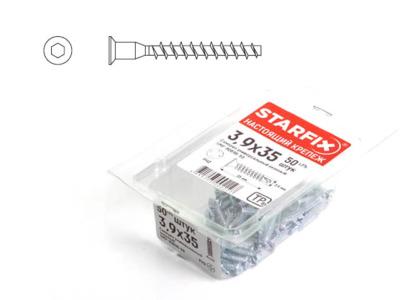 Конфирмат 5.0х50 мм с внутр. шестигр. (60 шт в пласт. конт.) starfix