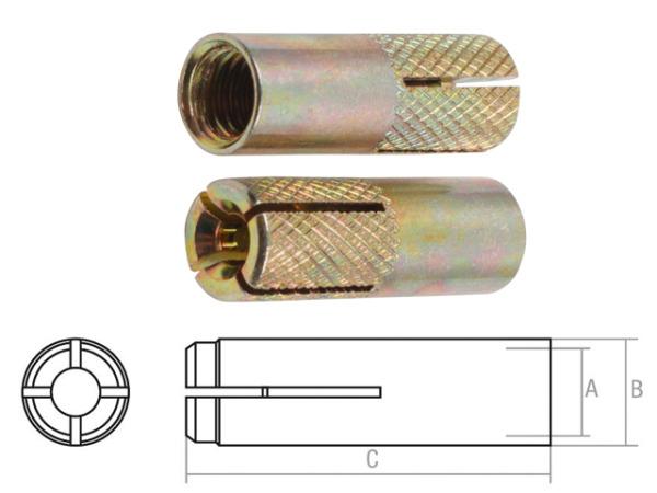 Анкер забиваемый М20х25х80 мм starfix