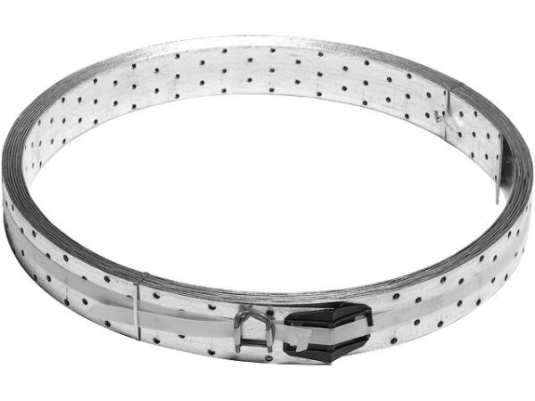 Лента монтажная перфорированная 40 мм lm белый цинк (бухта 10 м) starfix