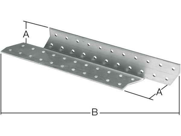Держатель балки правый 40х190 мм db r белый цинк starfix