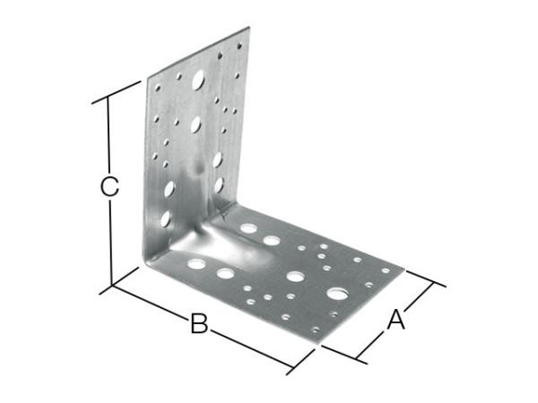 Уголок крепежный усиленный 100х130х130 мм kuu 2.0 мм белый цинк starfix