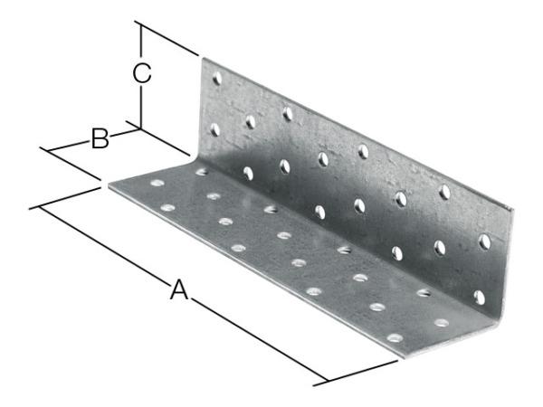 Уголок крепежный равносторонний 80х100х100 мм kur белый цинк starfix