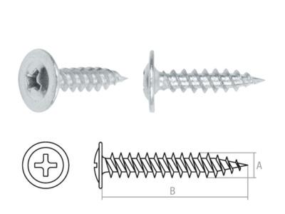 Саморез 4.2х13 мм с прессшайбой, цинк, острый (16000 шт в коробе) starfix