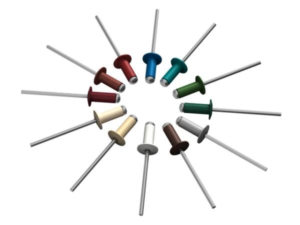 Заклепка вытяжная 4.8х12 мм алюминий/сталь, ral 3005 (150 шт в пласт. конт.) starfix (Цвет винно-красный)