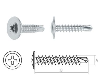 Саморез 4.2х14 мм с прессшайбой, цинк, со сверлом (1000 шт в карт. уп.) starfix