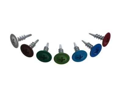 Саморез 4.2х16 мм с прессшайбой, цинк, со сверлом, ral 6005 (14000 шт в коробе) starfix (цвет зеленый мох)