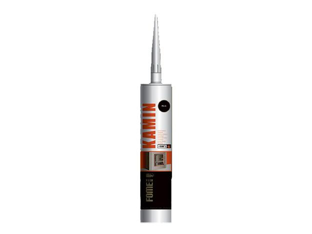 Герметик силикатный высокотемпературный fome flex kamin (черный) 300мл (+1500°С)