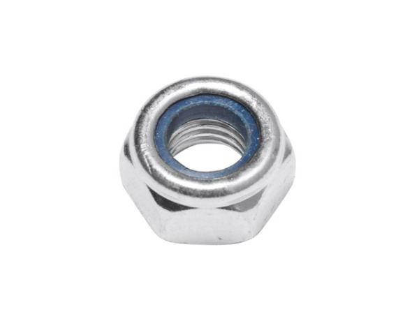 Гайка М6 со стопорным кольцом, цинк, din 985 (10 шт в зип-локе) starfix