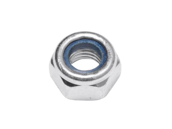 Гайка М10 со стопорным кольцом, цинк, din 985 (5 шт в зип-локе) starfix