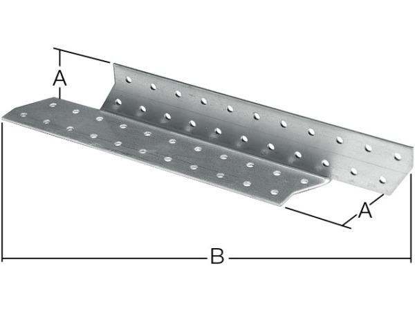 Держатель балки правый 40х210 мм db r белый цинк starfix