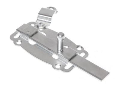 Задвижка дверная 100 мм плоская, белый цинк starfix