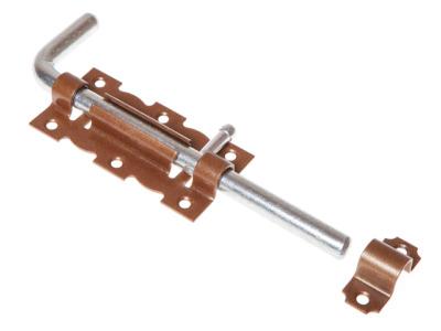 Задвижка дверная 110 мм Г-обр, бронз.металлик starfix