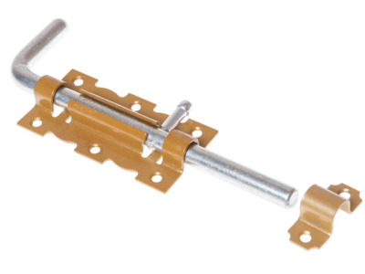 Задвижка дверная 110 мм Г-обр, зол.металлик starfix