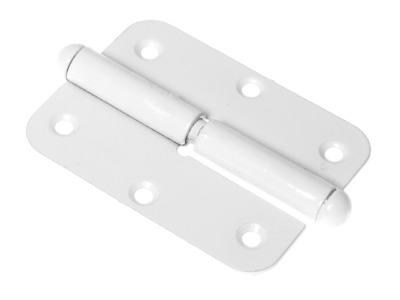 Петля 130 мм левая, белая starfix (разъемная)