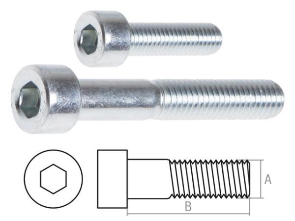 Винт М8х50 мм с внутр. шестигр., цинк, кл.пр. 8.8, din 912 (10 шт в пласт. конт.) starfix (неполная резьба)