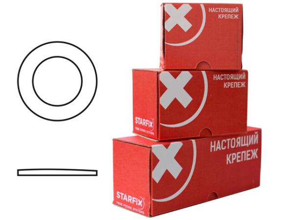 Шайба М10 плоская, цинк, din 125 (1000 шт в карт. уп.) starfix