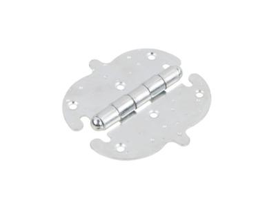 Петля 110 мм фигурная, белый цинк starfix