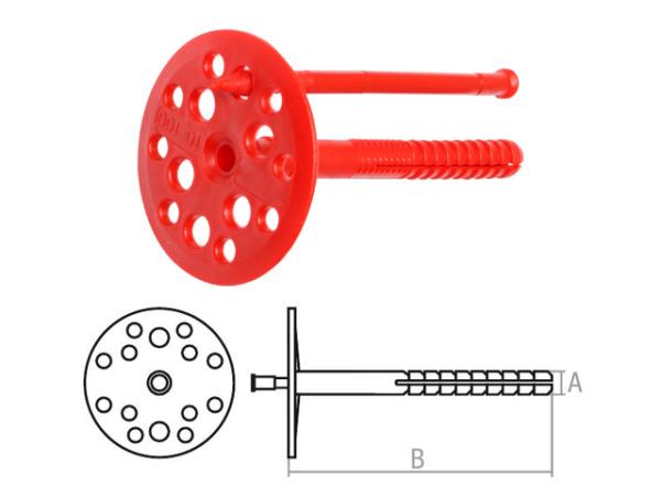 Дюбель для теплоизоляции 10х160 мм с пласт. гвоздем (500 шт в коробе) starfix