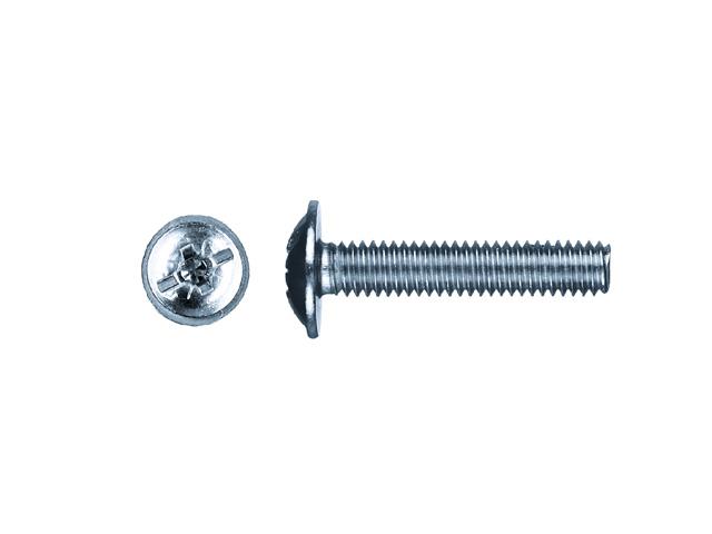 Винт М6х30 мм для мебельной фурнитуры, цинк din 967 (10 шт в зип-локе) starfix