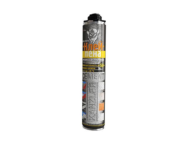 Клей-пена полиуретановая професс. kanzler cement (850мл) (Смесь для кладки)