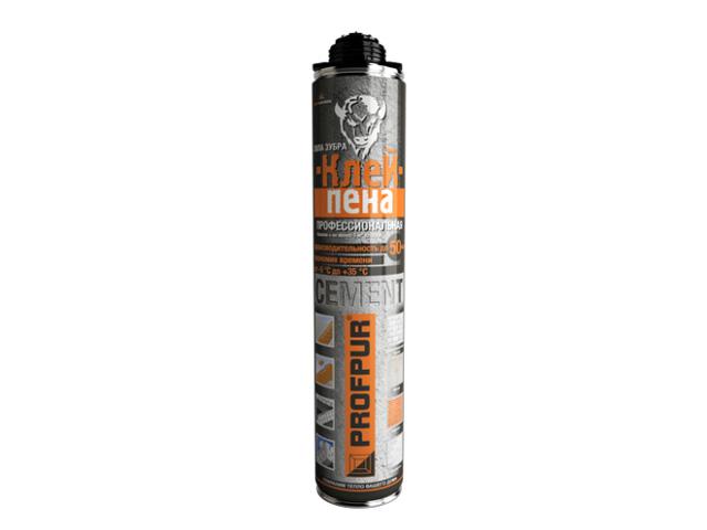 Клей-пена полиуретановая професс. profpur cement (850мл) (Смесь для кладки)