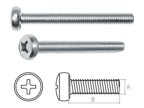 Винт М3х20 мм полусф. головка, din 85, без покрытия (200 шт в пласт. конт.) starfix (прямой шлиц)