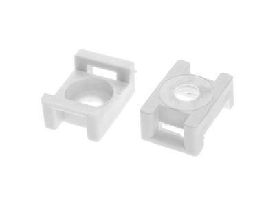 Площадка для хомут-стяжки 16х23 мм усиленная, белая (500 шт в пакете) (starfix)